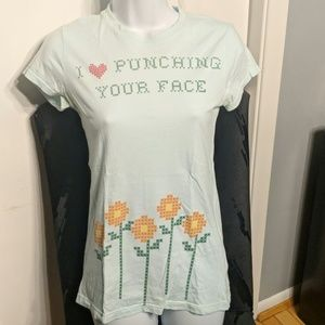A Fine Mess I Love Punching Your Face Babydoll Tee